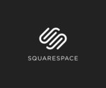 Small squarespace logo stacked white